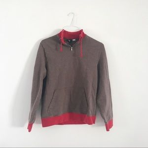 UO, BDG: red and brown sweatshirt